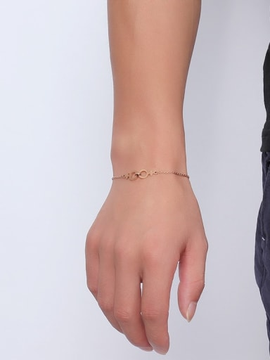 Adjustable Exquisite Rose Gold Plated Geometric Shaped Bracelet