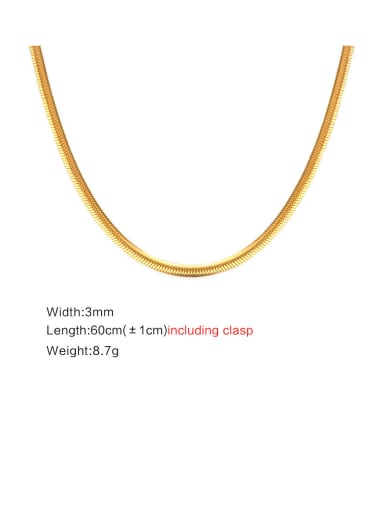 Stainless Steel With Gold Plated Simplistic Chain