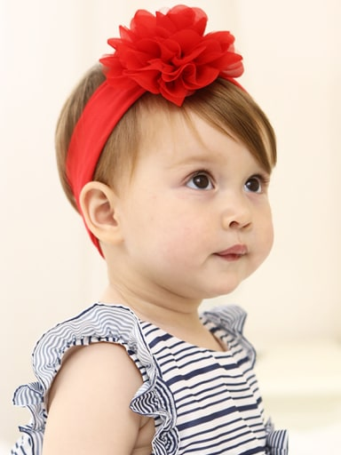 Red Flower bady headband