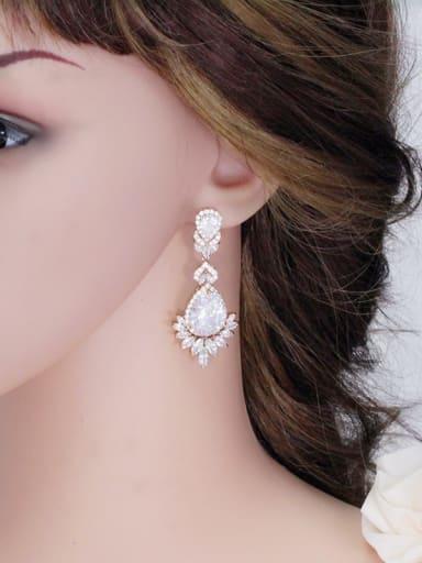 Luxury AAA Zircons Long Noble Fashion Drop Earrings