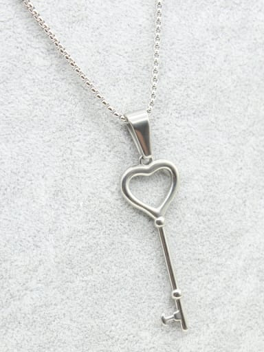 Stainless Steel Key Sweater Necklace