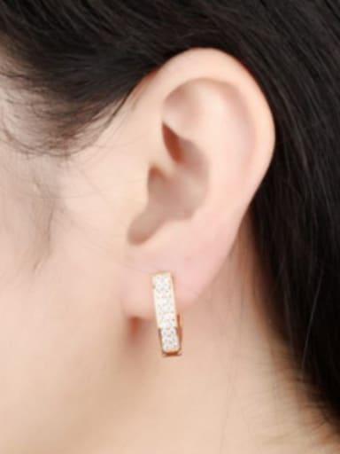 Fashion V-shaped Rhinestones Women Earrings