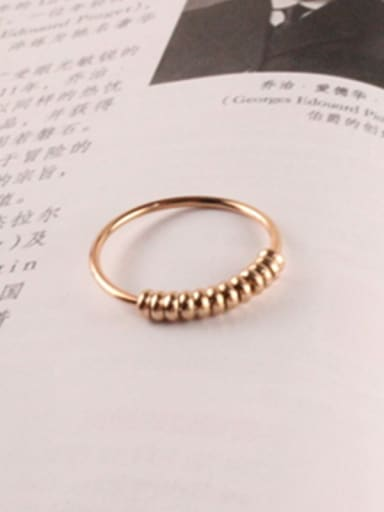Spring Retro Rose Gold Plated Ring
