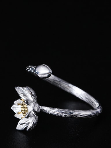 Flower Double Color Opening Ring