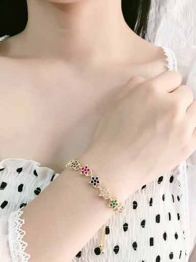 Copper With Cubic Zirconia Fashion Star Bracelets