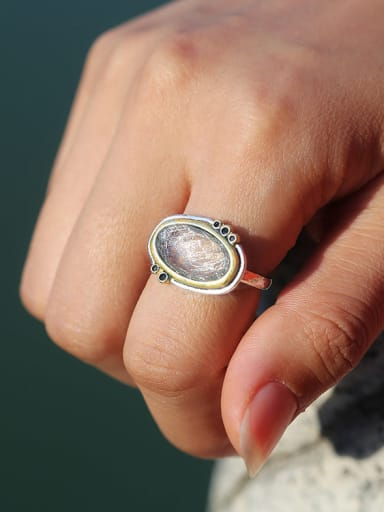 Copper With Platinum Plated Simplistic Oval Band Rings