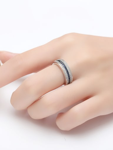 Copper With White Gold Plated Simplistic Band Rings