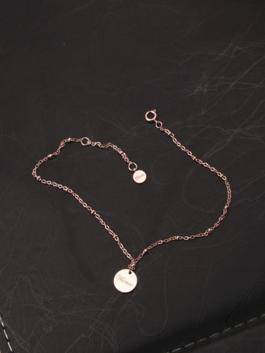 Temperament Rose Gold Plated Anklet