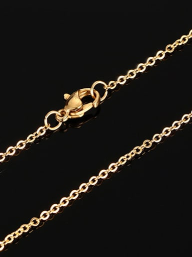Elegant Gold Plated Letter O Shaped Titanium Necklace