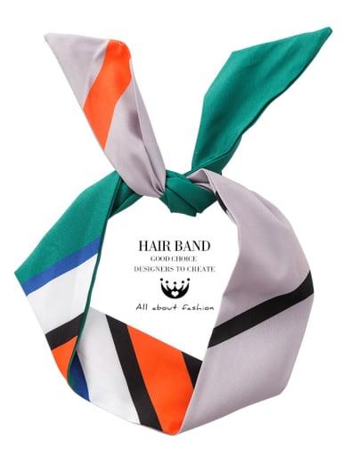 Colored silk scarf