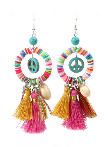 Bohemia Creative Color Clay Drop Earrings