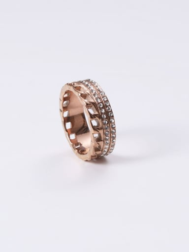 Titanium With Rose Gold Plated Simplistic Round Stacking Rings