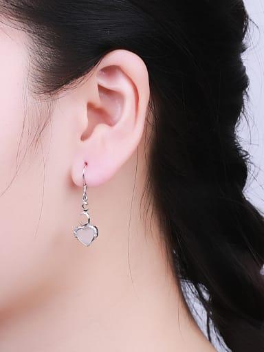 Elegant Opal Stone Drop Earrings