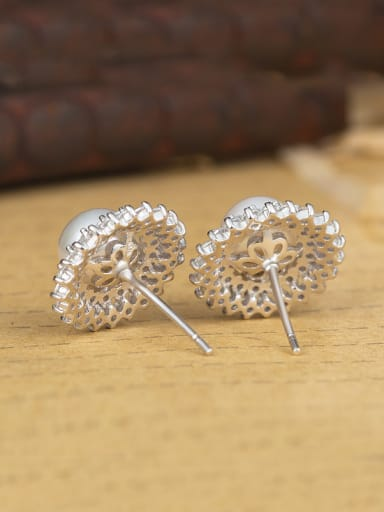 925 Silver Pearl Cluster earring