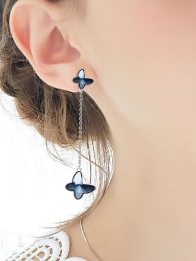 S925 Silver Butterfly Shaped threader earring
