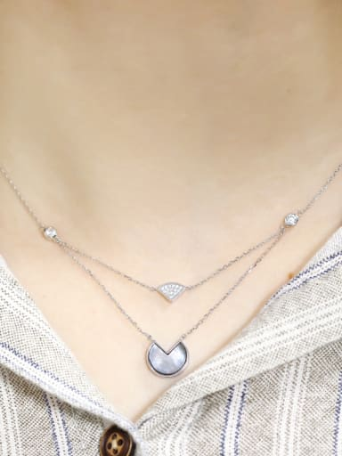925 Sterling Silver With Shell Multi Strand Necklaces