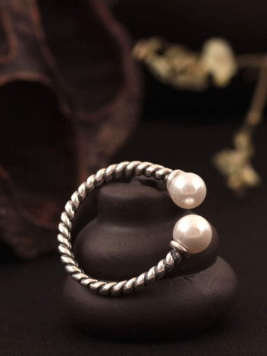 Creative Retro Twist Woven Opening Ring