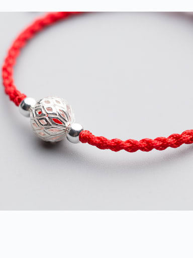 925 Sterling Silver With Silver Plated and Hollow ball Woven & Braided Bracelets