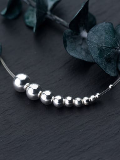 925 Sterling Silver With Silver Plated Classic Ball Beads