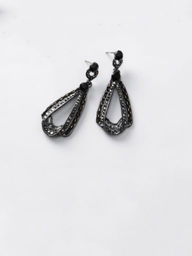 Alloy With Black Gun Plated Vintage Geometric Drop Earrings