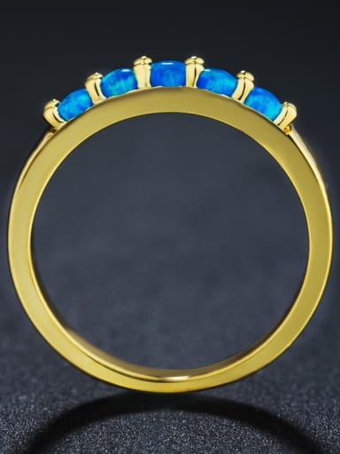 Gold Plated Opal Stone Multistone ring