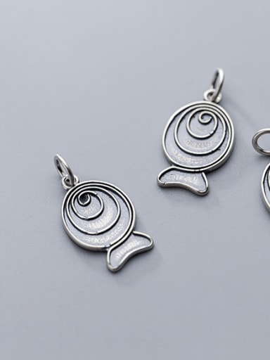 Thai Silver With Antique Silver Plated Cartoon fish Charms
