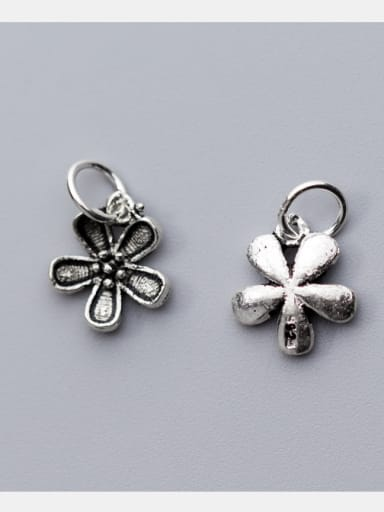 925 Sterling Silver With Antique Silver Plated Trendy Flower Earrings
