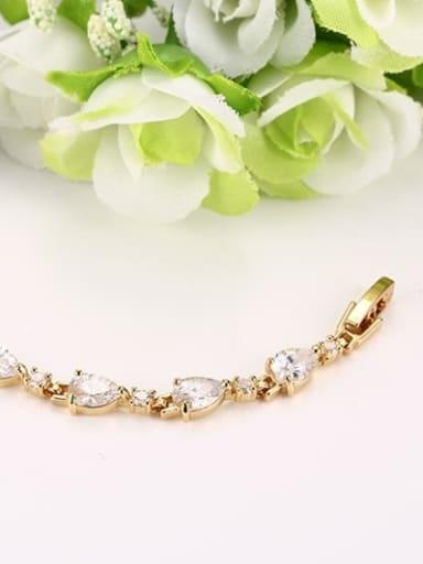 Exquisite Water Drop Shaped AAA Zircon Copper Bracelet