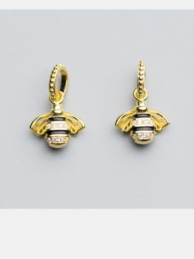 925 Sterling Silver With 18k Rose Gold Plated Micro-inlaid zirconium bee Charms