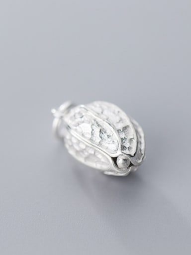 925 Sterling Silver With Silver Plated Cute Food peanut Charms