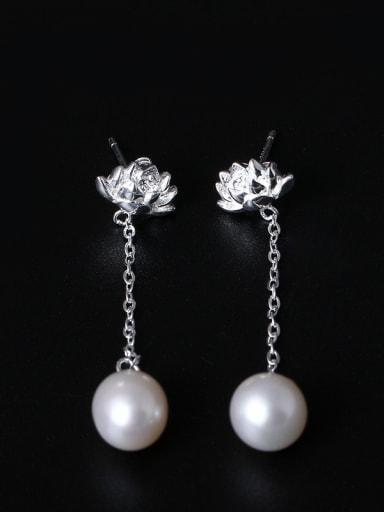 Creative Design Flower drop earring