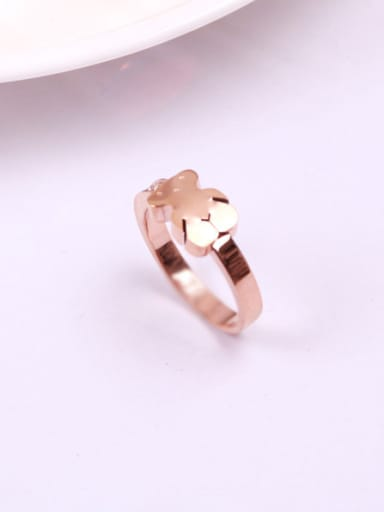 Smooth Bear Pattern Titanium Ring