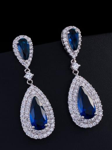 2018 Fashion Wedding Water Drop Cluster earring