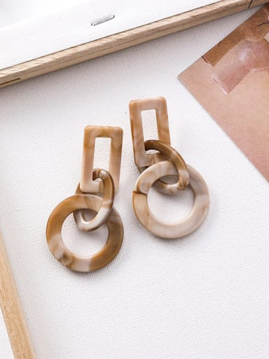 Alloy With Retro Acrylic Irregular Geometric Earrings