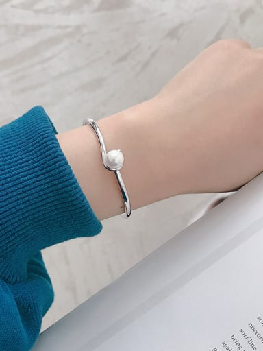 925 Sterling Silver With Platinum Plated Simplistic Bee-joo Bracelets