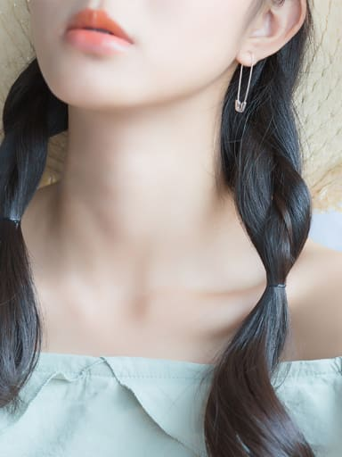 Sterling Silver Clip  cool Earrings