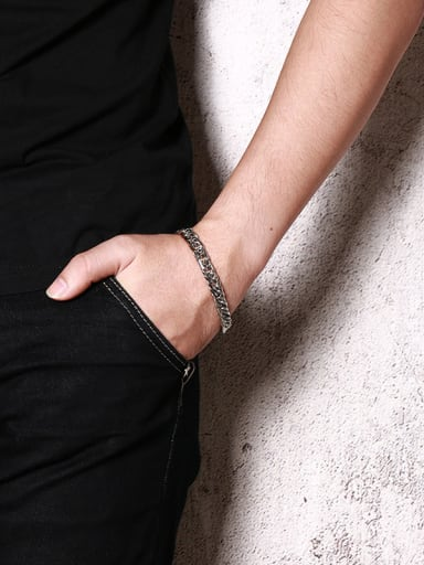 Fashionable High Polished Stainless Steel Bracelet