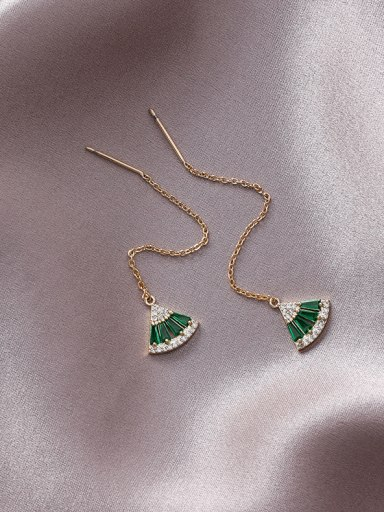 Alloy With Gold Plated Simplistic Geometric Threader Earrings