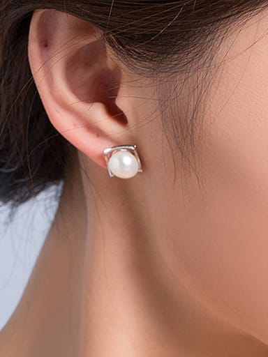 2018 Freshwater Pearl Square stud Earring