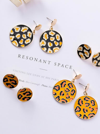 Alloy With Gold Plated Personality Classic Leopard Print Drop Earrings