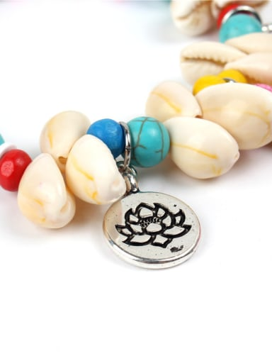 Original Colorful Natural Stones Shell Bracelet
