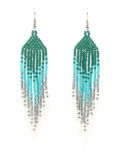Hot Selling Woven Tassel Drop Earrings