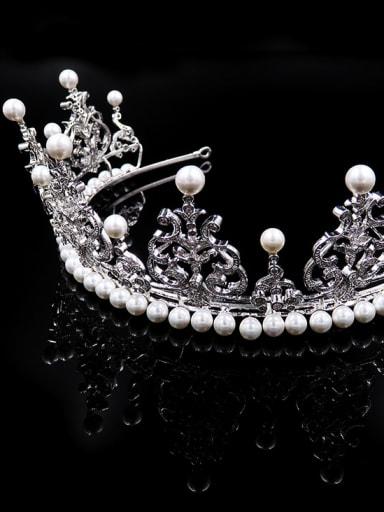 Exquisite Zircons Artificial Pearls Wedding Hair Accessories