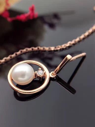 Freshwater Pearl Asymmetric threader earring