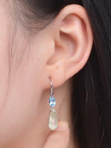 Fashion Water Drop Natural Stones Drop Earrings
