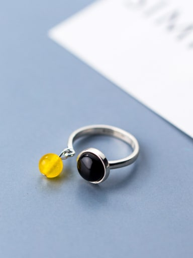 925 Sterling Silver Fashion Carnelian Charm Rings