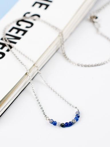 Women Exquisite U Shaped Gemstone Necklace