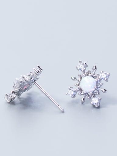 Christmas jewelry: Sterling silver sweet zricon stud earrings