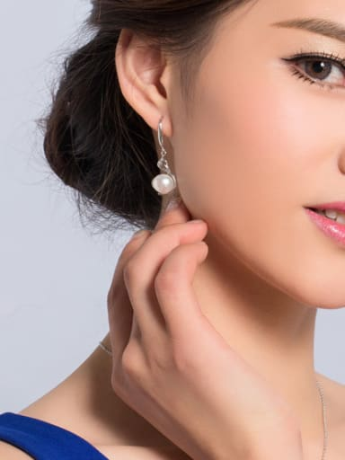 Fashion Freshwater Pearl Drop hook earring