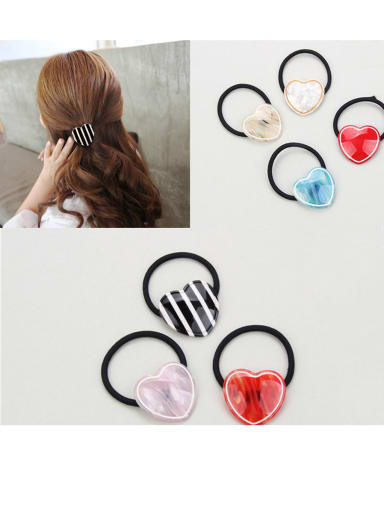 Rubber Band With Cellulose Acetate  Cute Heart ShapedHair Ropes